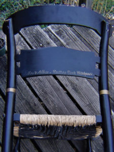 This Photo Shows The Stenciled Line On The Back Of This Ethan Allen  Reproduction Hitchcock.