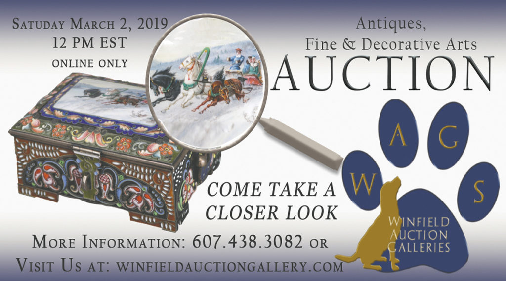 antique, Fine & Decorative Arts Auction - Saturday, March 2nd at 12noon